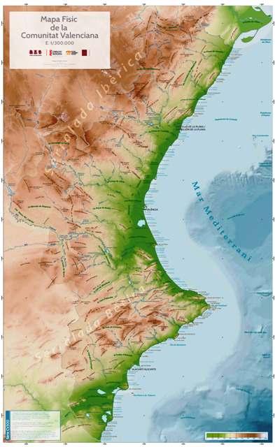 Mapa Fisico Comunitat Valenciana.Les Corts El Consell Y La Avl Edita El Primer Mapa Fisico De La Comunitat Valenciana