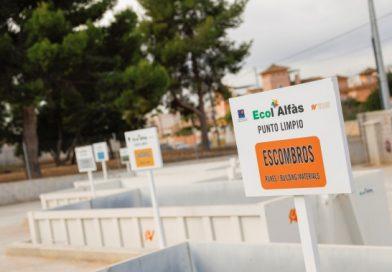 Los puntos limpios de l'Alfàs reciben más de 660.000 kilos de residuos de enero a agosto